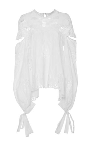 Medium jonathan simkhai white crocheted cotton blouse