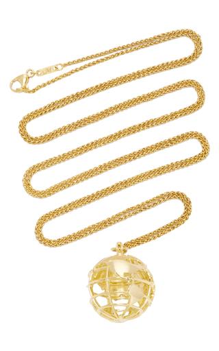 Medium monica rich kosann gold 18k yellow gold my earth charm necklace on 36 chain