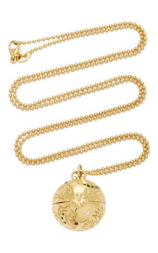 Medium monica rich kosann gold 18k yellow gold venus inner beauty charm necklace on 30 ball chain