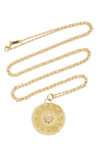 Medium monica rich kosann gold 18k yellow gold constellation my stars charm necklace on 30 chain