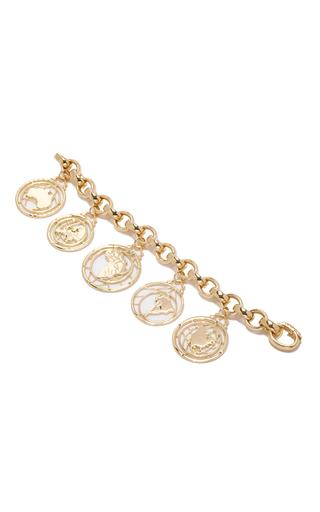 Medium monica rich kosann gold 18k yellow gold continent charm bracelet