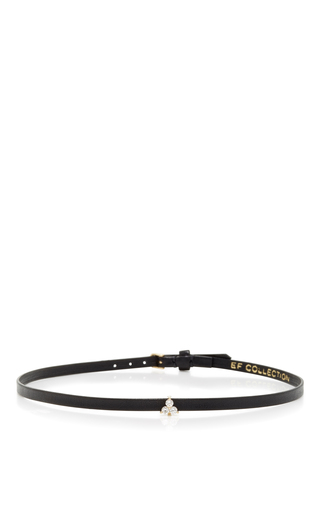 Medium ef collection black mini trio leather choker