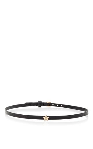 Medium ef collection black mini star leather choker