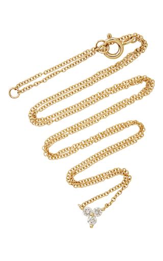 Medium ef collection gold 18k yellow gold diamond trio necklace