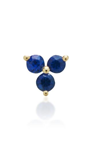 Medium ef collection gold blue sapphire trio stud