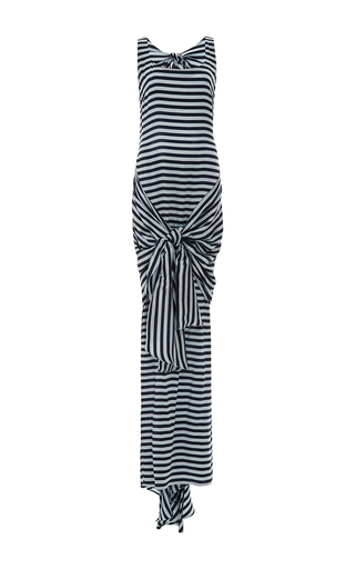 Medium leal daccarett stripe cienaga sleeveless maxi dress