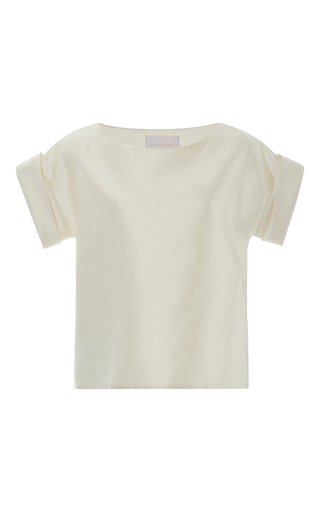 Medium leal daccarett white pandora short sleeve top