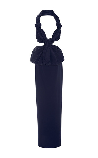 Medium leal daccarett navy cocobo gown