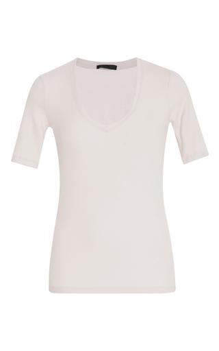 Medium atm silver grey short sleeve v neck tee