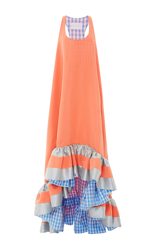 Medium leal daccarett orange siloe gown