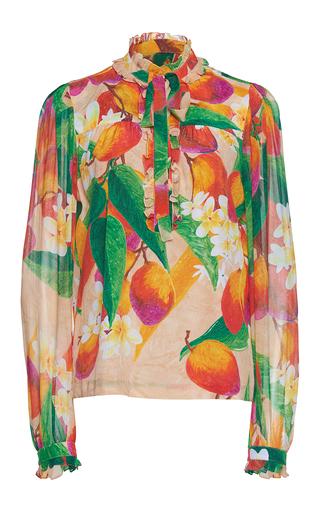 Medium isolda multi clara printed ruffle blouse