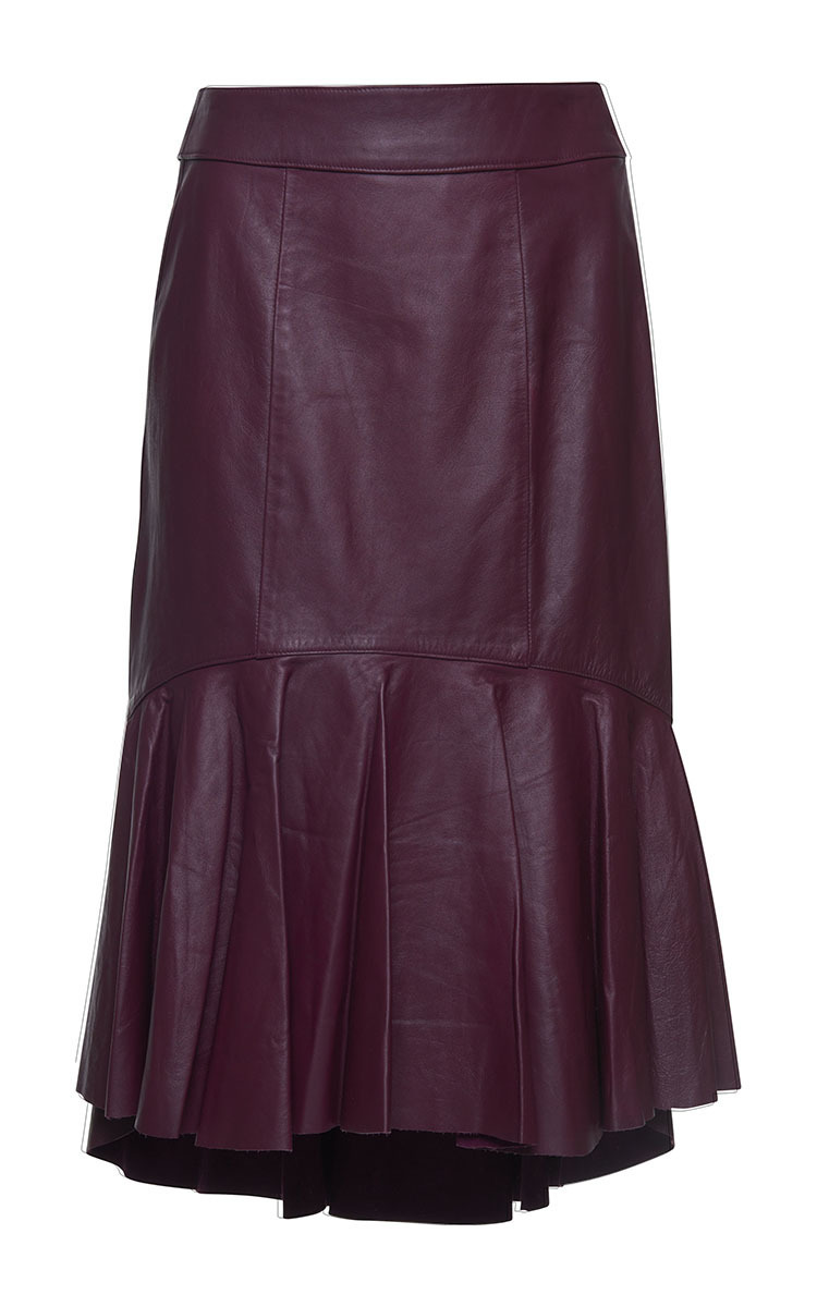 asymmetric leather skirt by isolda moda operandi