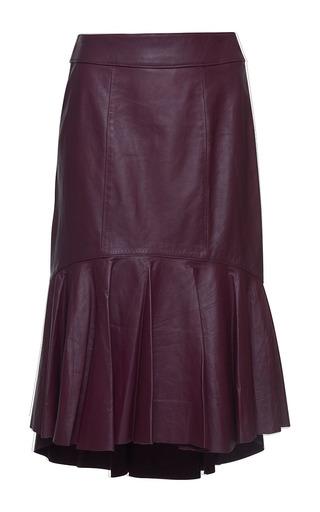 Medium isolda purple renata asymmetric leather skirt