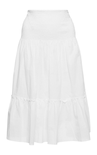 Medium isolda white denise ruched skirt