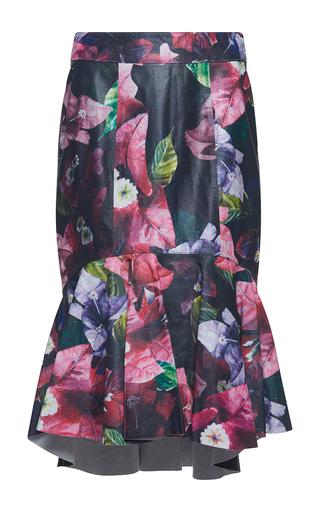 Medium isolda multi renata asymmetric printed leather skirt