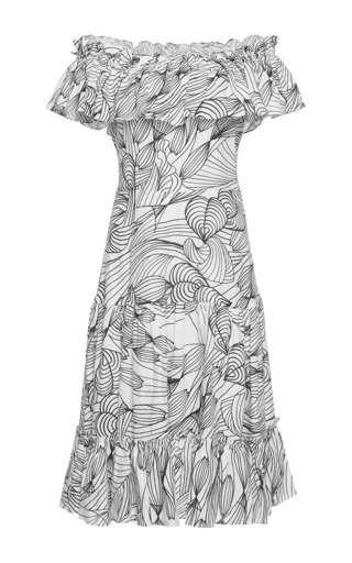 Medium isolda print linen santo domingo dress