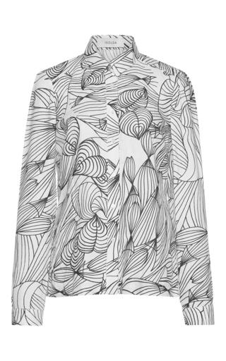 Medium isolda print dada button down shirt