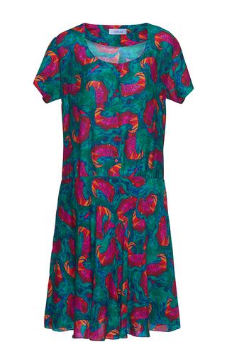 Medium isolda multi violeta scoop neck dress
