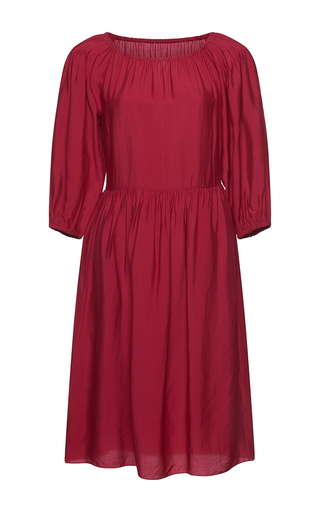 Medium isolda red lina belted dress