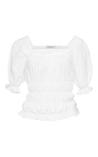 Medium isolda white agata ruched top
