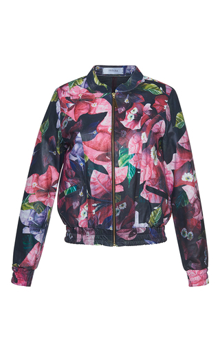 Medium isolda multi leather floral bomber jacket