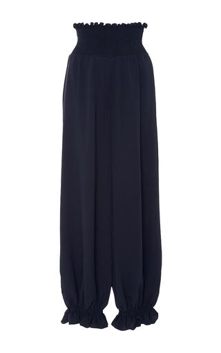Medium azede jean pierre blue smocked silk pants