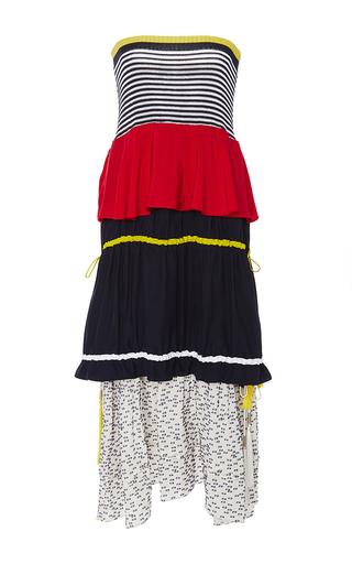 Medium azede jean pierre multi layered flounce drawstring dress