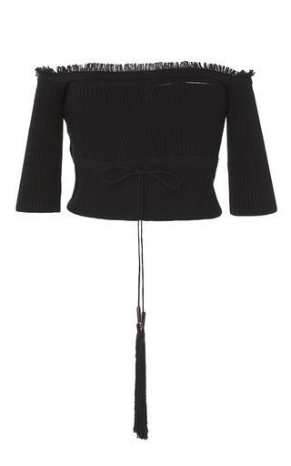 Medium azede jean pierre black off the shoulder knit tube top