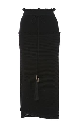 Medium azede jean pierre black ottoman drawstring skirt