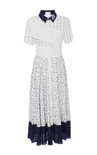 Medium azede jean pierre white tie front button down dress
