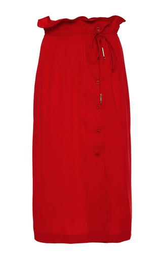 Medium azede jean pierre red button down skirt