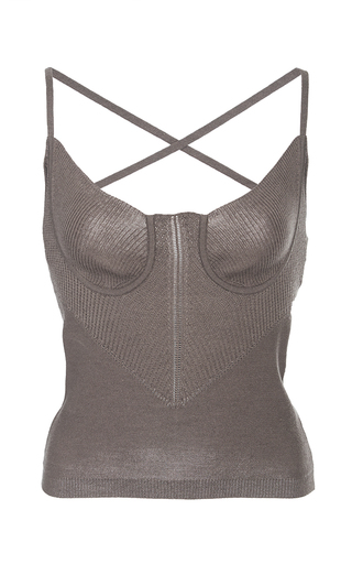 Medium azede jean pierre brown bustier knit tank top