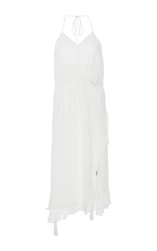 Medium azede jean pierre white drawstring tassel dress
