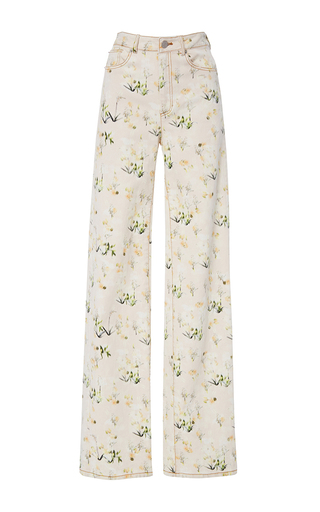 Medium rebecca taylor pink firefly flower pant