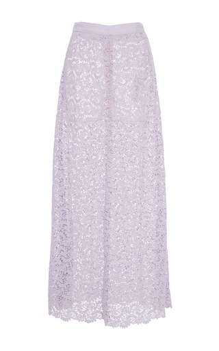 Medium rebecca taylor purple eliza lace midi skirt