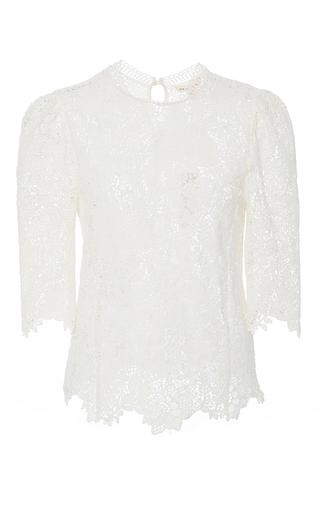 Medium rebecca taylor white ariella lace mock neck top