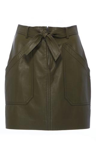 Medium rebecca taylor green tumbled leather mini skirt