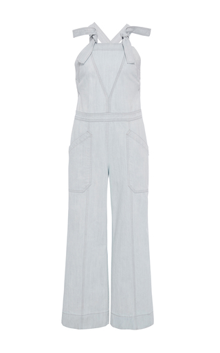 Medium rebecca taylor white denim jumpsuit