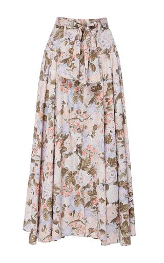 Medium rebecca taylor multi penelope floral print midi skirt
