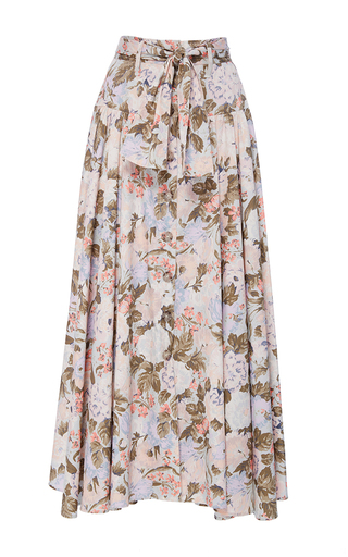 Medium rebecca taylor multi penelope floral print midi skirt