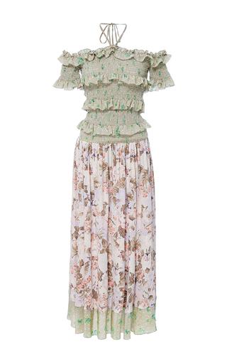 Medium rebecca taylor multi print mix off the shoulder dress