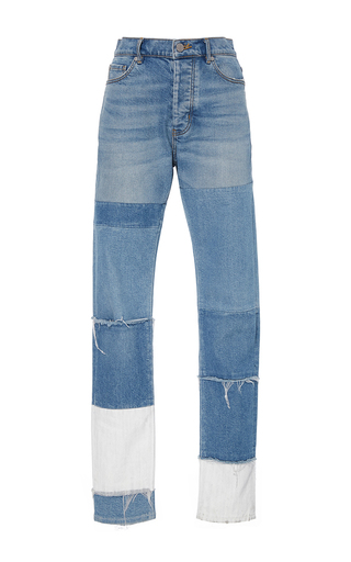 Medium rebecca taylor blue patched soft denim pant