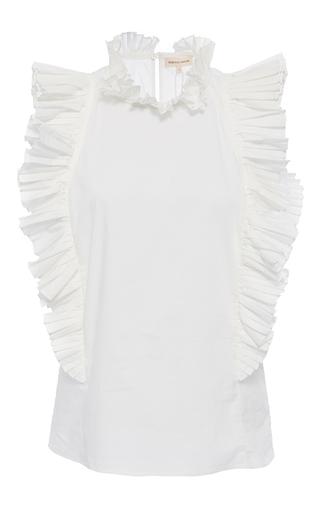 Medium rebecca taylor white pop pleat shirting top