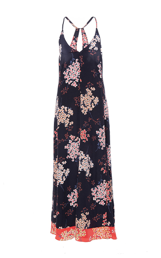 Medium rebecca taylor navy phlox floral print maxi dress