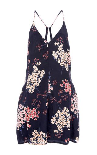 Medium rebecca taylor navy phlox floral print mini jumpsuit