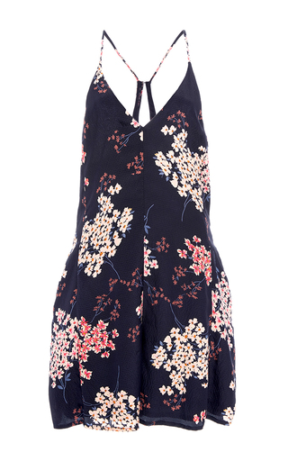 Medium rebecca taylor navy phlox floral print mini jumpsuit
