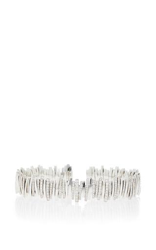 Medium suzanne kalan silver 18k white gold line bangle