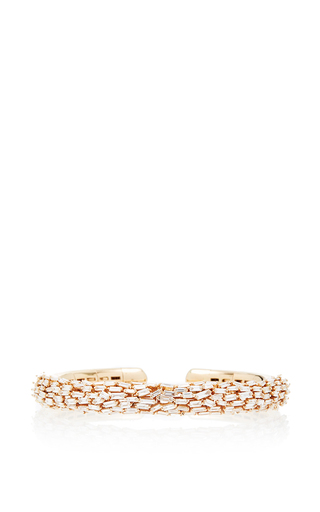 Medium suzanne kalan rose gold one of a kind 18k rose gold diamond baguette bangle