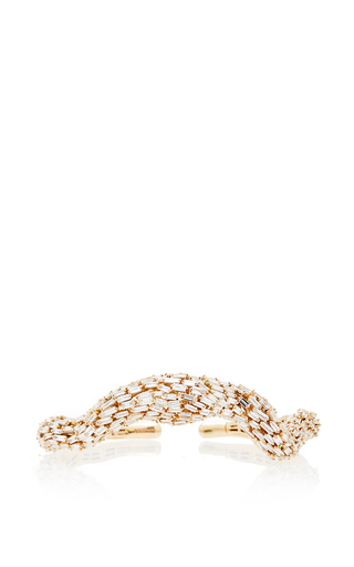 Medium suzanne kalan rose gold one of a kind 18k rose gold diamond baguette curve bangle