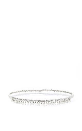 Medium suzanne kalan silver 18k white gold diamond baguette choker